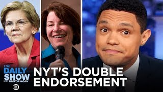 The New York Times's Dual Endorsement & Michael Bloomberg's White Privilege Speech | The Daily Show
