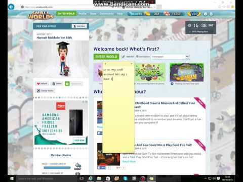 How To Earn Gold Fast NO info Needed, NO cheat, just time! Smallworlds