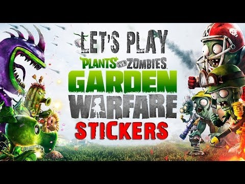 Plants vs. Zombies: Garden Warfare - Spectacular Sticker Character Pack Opening