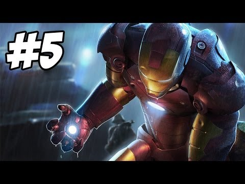 Iron Man Walkthrough | Maggia Compound / Flying Fortress | Part 5 (Xbox360/PS3/PC/Wii)