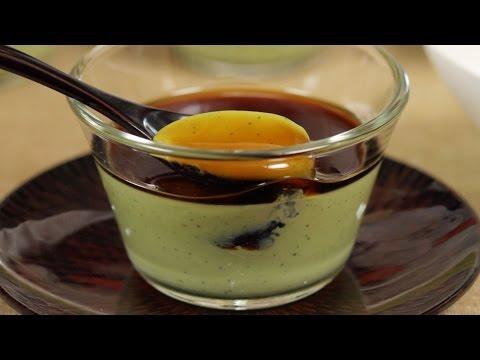Matcha Panna Cotta Recipe (Green Tea Dessert) | Cooking with Dog