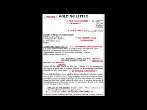 Structure of Legal Letter  --- Lesson One - January 2015 (the writing's on the wall)