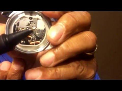Fossil watch battery change amendment ..January 4th 2016 Reset Button