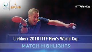 Dimitrij Ovtcharov vs Mattias Falck | 2018 ITTF Men's World Cup Highlights ( R16 )