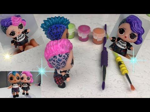 LOL Punk Boi Renk Değiştiren Kendi Yaptığım Big Sister Punky Babe Kuzeni LOL Color Change Toy Video