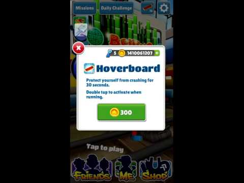 Subway surfers unlimited coins,hoverboards and key