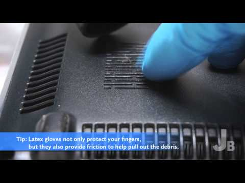 How to Clean a Laptop Fan Bay