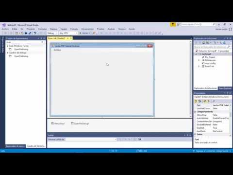 Crea tu propio Lector PDF Visual .Net (Visual Studio 2017)