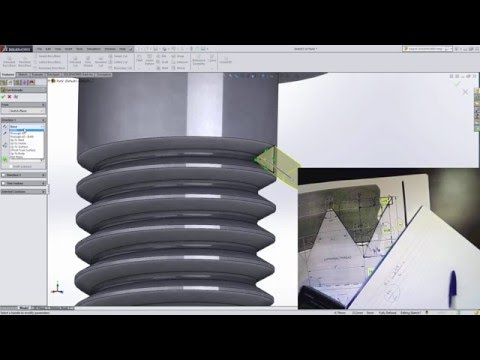 SolidWorks Tutorial | How to create Threads on a Bolt M10 - EXPLAIN - step by step