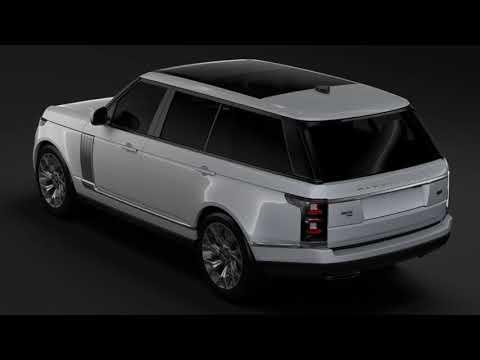 3D Model of Range Rover Autobiography P400e LWB L405 2018