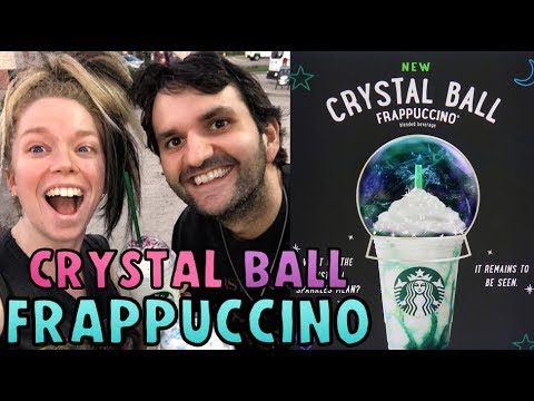Starbucks CRYSTAL BALL Frappuccino TASTE TEST! ft MY BROTHER!
