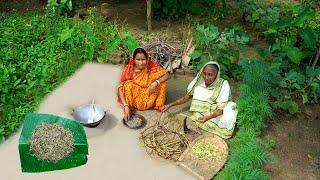 Bata Chingri diye Kochur Loti Recipe prepared by our Grandmother in Village Style