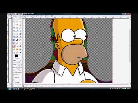 How to change a photo's background (using Gimp 2)