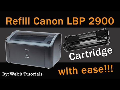 Canon LBP 2900 toner refill tutorial (Easy Method)