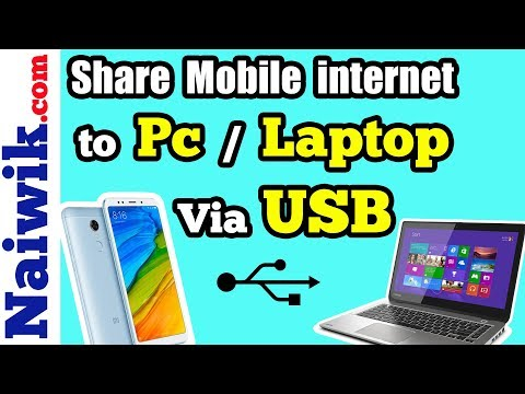 Share Mobile Internet connection from your Android phone to Pc / Laptop via USB    USB Tethering
