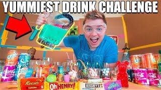 YUMMIEST DRINK IN THE WORLD CHALLENGE!! 😋🥤 Gummy, Nutella, Reese