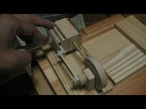 Homemade Wooden air small engine