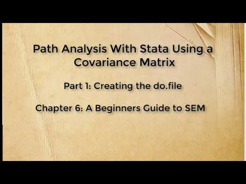 Path Analysis Using a Covariance Matrix with Stata (Part 1)