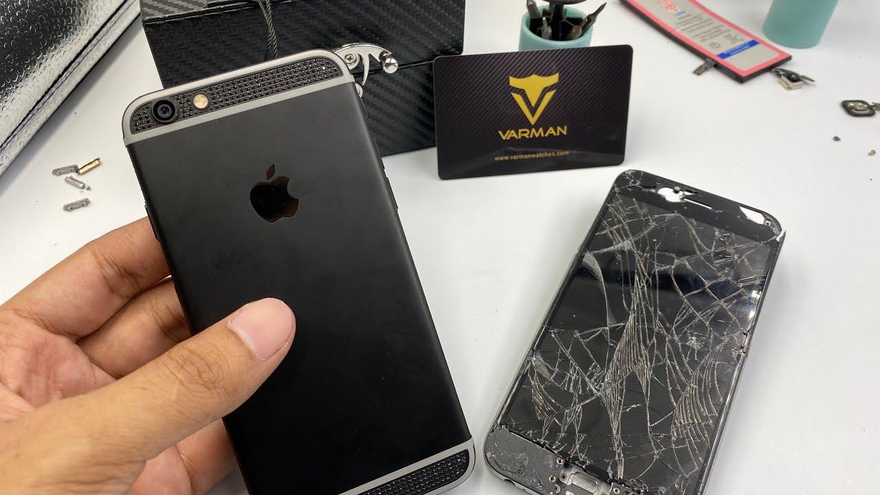 Restoration iPhone 6 to Ceramic platinum body...