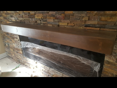 Fireplace mantel / floating shelf