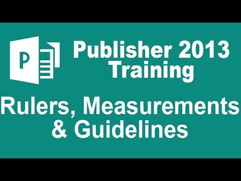 Microsoft Publisher 2013 Tutorial - Rulers, Measurements, and Guidelines