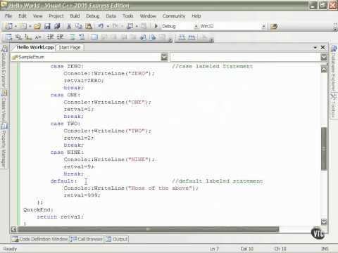 05  C++ Enums    21  Labeled Statement