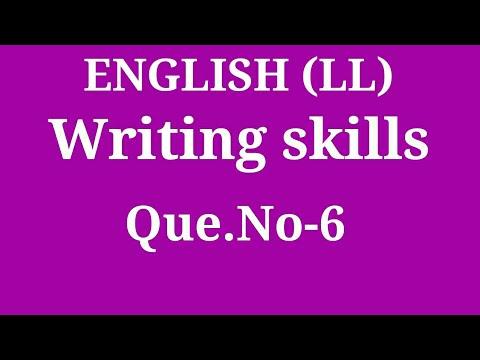 Writing Skills Q. 6 by ENGLISH गुरू