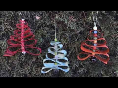 DIY Ribbon Tree Ornaments