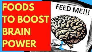 BEST BRAIN FOOD - What to Eat to Boost Brain Power / What Nutrients the Brain Needs What Not to Eat