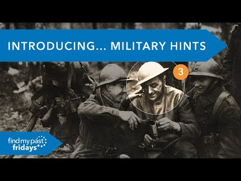 How to Easily Find Military Ancestors  | Findmypast Fridays Live 08 June 18