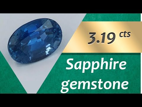 Sapphire Gemstone. 3.19 Carats Natural Gemstone of Sapphire