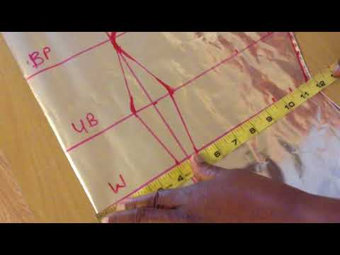 How to cut six pieces blouse (princess dart)