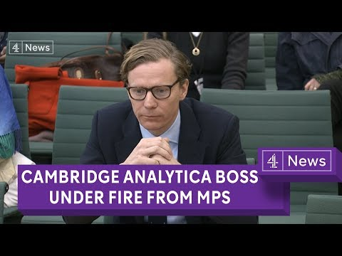 Cambridge Analytica boss under fire from MPs