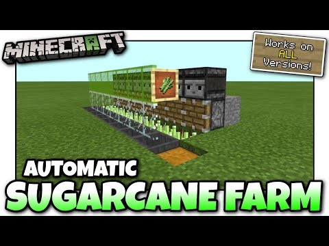 Minecraft - AUTOMATIC SUGARCANE FARM [ Redstone Tutorial ] Works on ALL Versions !