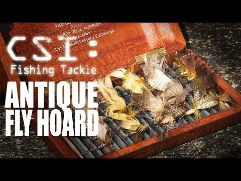 Antique Fly Fishing Hoard - Fishing Britain CSI Tackle