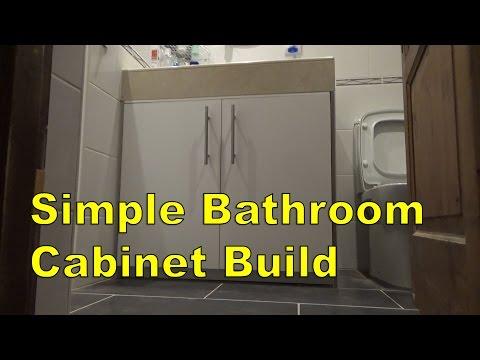 Simple Bathroom Cabinet Build