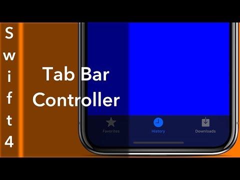 Tab Bar Controller (Swift 4 + Xcode 9.0)
