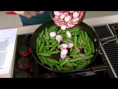 Sauteed Sugar Snap Peas with Radishes