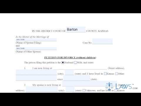 Form Petition for Divorce No Children