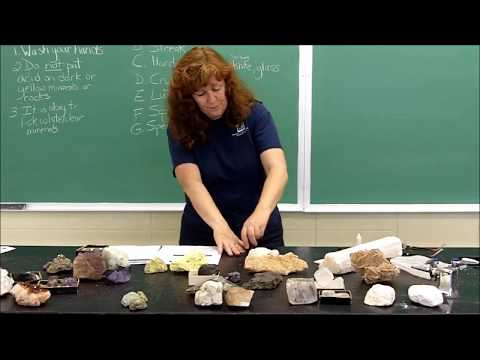 Minerals-Properties used to identify minerals