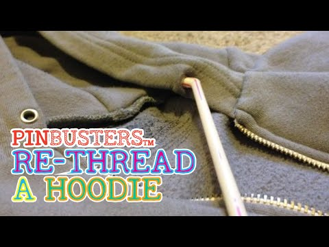 Re-thread A Hoodie Drawstring With A Straw // DOES IT WORK?
