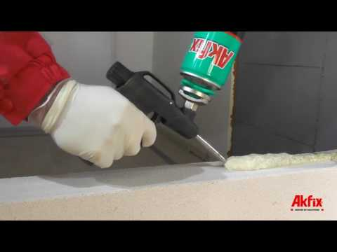 DIY - How to Build a Block Wall with Akfix 962P Concrete Stone Adhesive Foam (No Mortar Used)