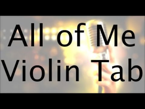 Learn All Of Me on Violin (Easier Notes Version) - How to Play Tutorial