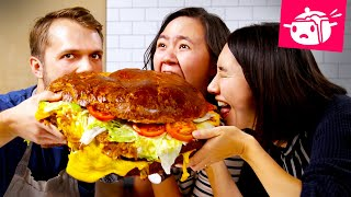 We Tried To Re-Create This Giant 30-Pound Burger • Eating Your Feed • Tasty