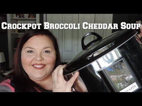 Crockpot Broccoli Cheddar Soup // Collab with According to Alex