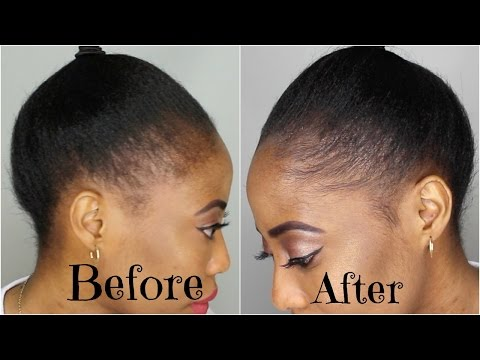 How To Fill Up Thin Edges Instantly   NATURAL HAIR TUTORIAL