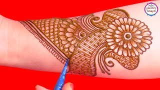 Stylish Full Hand Arabic Henna Designs | Henna Tattoo | Mehndi Designs Tutorial by Jyoti Sachdeva