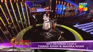 Fawad & Mahira wins the Best on Screen Couple (1st HumTv Awards 2013) HD