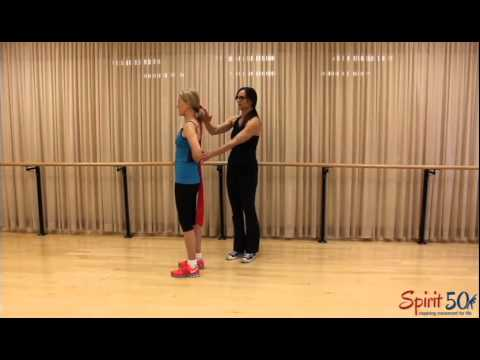 Arm exercise with band (triceps)