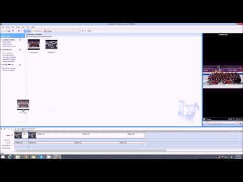 Inserting Photos into Video using Windows Movie Maker
